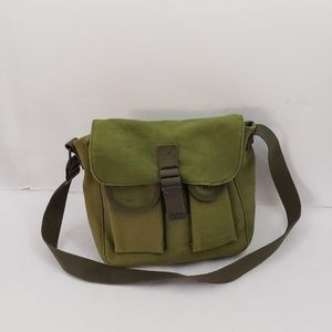 Olive Canvas Military Style Ammo Bag